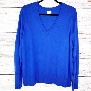 A New Day v neck pullover sweater in royal blue